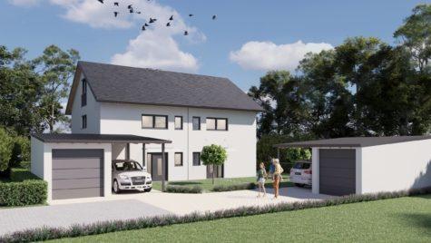 Neubau! Charmante Doppelhaushälfte (Haus 1) mit sonniger Süd-/Westausrichtung, 85467 Neuching, Doppelhaushälfte